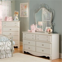 Standard Furniture Spring Rose Dresser and Mirror Set