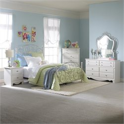 Standard Furniture Spring Rose 4 Piece Bedroom Set