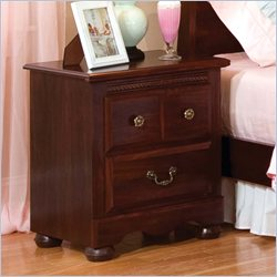 Standard Furniture Jacqueline Nightstand in Zinfindale Cherry