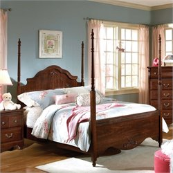 Standard Furniture Jacqueline Poster Bed in Zinfindale Cherry - Twin