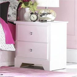 Standard Furniture Marilyn Nightstand in Glossy White