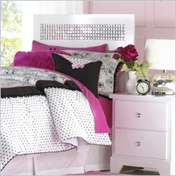 Standard Furniture Marilyn Headboard with Mirror Inset - Full
