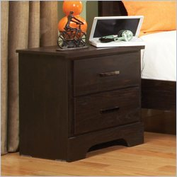 Standard Furniture Hideout Nightstand in Warm Dark Pecan