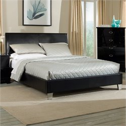 Standard Furniture Meridian Bed in High Sheen Black - Queen