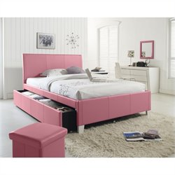 Standard Furniture Fantasia Bed with Trundle in Pink - Full