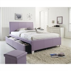 Standard Furniture Fantasia Bed with Trundle in Lavender - Twin