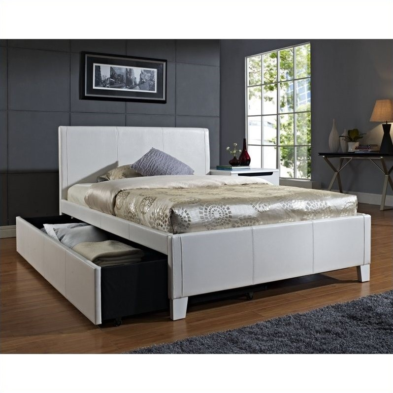Standard Furniture Fantasia Bed with Trundle in White