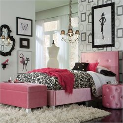 Standard Furniture Young Parisian Bed in Pink - Twin
