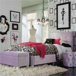 Standard Furniture Young Parisian Bed in Lavender - Twin
