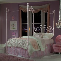 Standard Furniture Princess Canopy Bed in Pink Finish - Twin