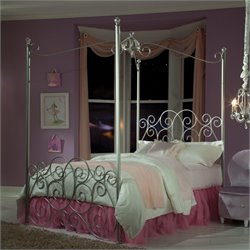 Standard Furniture Princess Canopy Bed in Silver Finish - Twin