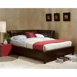 Standard Furniture Rochester Upholstered Bed in Brown - Twin