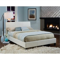 Standard Furniture New York Upholstered Bed in White - Queen