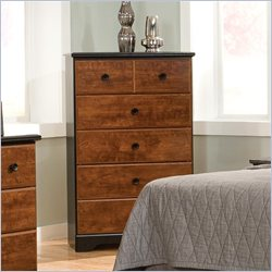 Standard Furniture Steelwood 5 Drawer Chest in Oak and Cherry