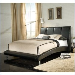 Standard Furniture Moderno Upholstered Platform Bed in Black - Queen