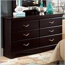 Standard Furniture Crossroads 6 Drawer Dresser in Cherry Finish