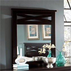 Standard Furniture Crossroads Mirror in Cherry Finish