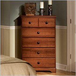 Standard Furniture Orchard Park 5 Drawer Chest in Cherry Star