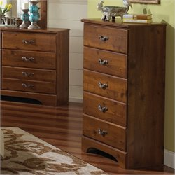 Standard Furniture Hester Heights 5 Drawer Chest in Dark Wood
