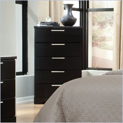 Standard Furniture Atlanta 5 Drawer Chest in Black