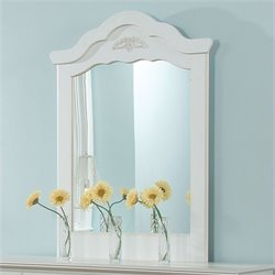 Standard Furniture Daphne Panel Mirror in White Finish