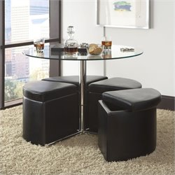 Standard Furniture Cosmo Round Glass Table Set
