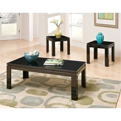 Standard Furniture Passport 3 Piece Coffee Table Set in Black