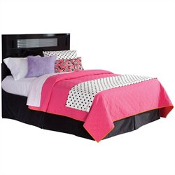 Standard Furniture Marilyn Black Headboard with Mirrored Insert