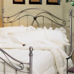 Hillsdale Milano Metal Headboard in Antique Pewter - Full/Queen