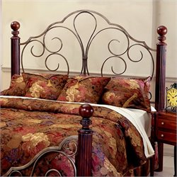 Hillsdale Ardisonne Metal and Wood Headboard in Silver/Cherry - Full/Queen
