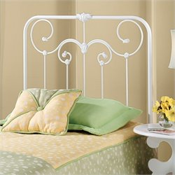 Hillsdale Lindsey Metal Headboard in White - Twin