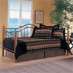 Hillsdale Winsloh Metal and Wood Post Daybed in Oak Finish - Daybed only