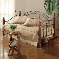 Hillsdale Camelot Wood and Metal Daybed in Cherry Finish