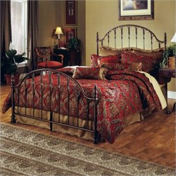 Hillsdale Tyler Metal Panel Bed in Antique Bronze Finish - King