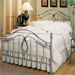 Hillsdale Milano Antique Pewter Metal Poster Bed - King