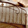Hillsdale Tierra Mar Metal Panel Bed in Desert Tan Finish