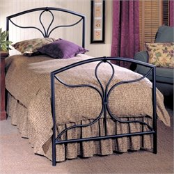 Hillsdale Morgan Black Metal Panel Bed - Full