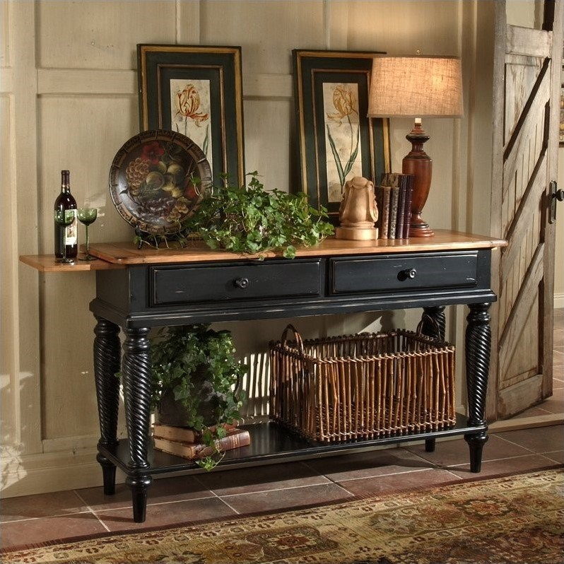 Hillsdale Wilshire Sideboard Table In Antique Black 4509sb