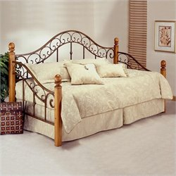 Hillsdale San Marco Wood and Metal Post Daybed with Trundle