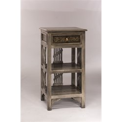 Hillsdale Alena 2 Shelf End Table in Graywash