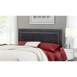 Amber Upholstered Headboard in Pewter