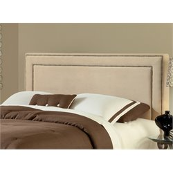 Hillsdale Amber Upholstered Queen Panel Headboard in Buckwheat