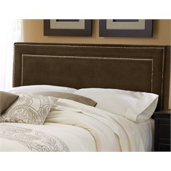 Hillsdale Amber Upholstered Queen Panel Headboard in Brown