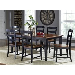 Hillsdale Avalon 7 Piece Dining Set in Black