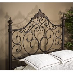 Baremore Ornate Spindle Headboard in Antique Brown
