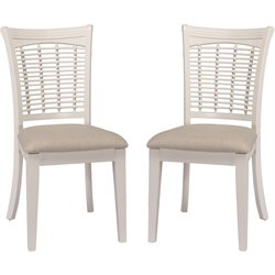 Hillsdale Bayberry Dining Chair in White (Set of 2)