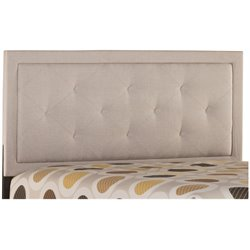 Hillsdale Becker Upholstered Full Panel Headboard in Cream