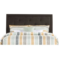 Hillsdale Becker Upholstered Twin Panel Headboard in Black