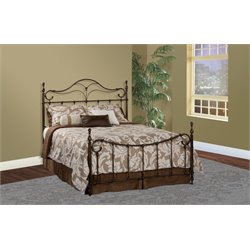Hillsdale Bennett King Metal Spindle Poster Bed in Bronze