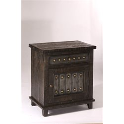 Hillsdale Bolt 1 Drawer End Table in Dark Gray